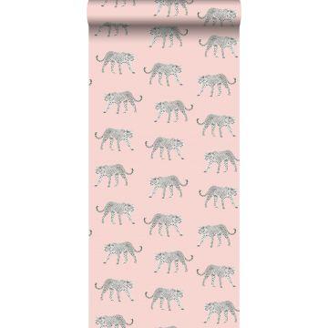 wallpaper panters soft pink