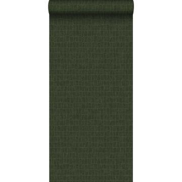 wallpaper crocodile skin greyed olive green