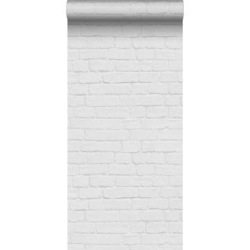 wallpaper bricks light gray