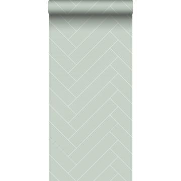 wallpaper herring bone pattern mint green and white