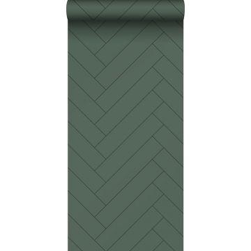 wallpaper herring bone pattern dark green