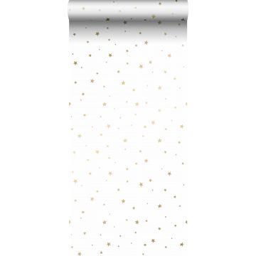 wallpaper little stars white and gold