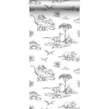 wallpaper dinosaurs black and white