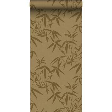 wallpaper bamboo leaves mustard