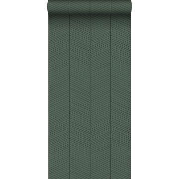 wallpaper herring bone pattern green and black