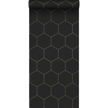 wallpaper hexagon black and gold