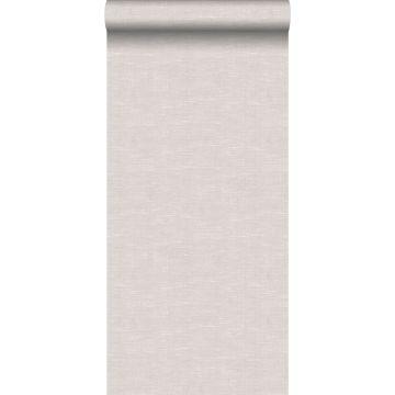 wallpaper linen look grayish brown