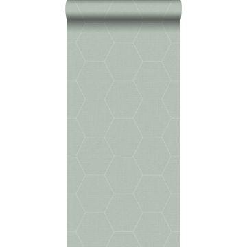 wallpaper hexagon celadon green