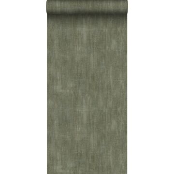 wallpaper plain with painterly effect olive green