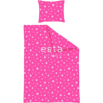 junior duvet cover set playful flowers pink
