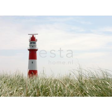 wall mural lighthouse red, white and green