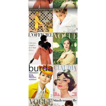 non-woven wallpaper XXL magazine covers multi color