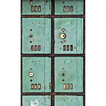 wall mural letterboxes sea green