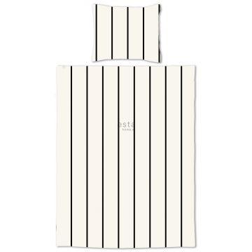 junior duvet cover set stripes black