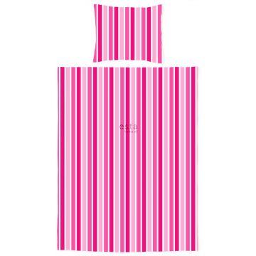 junior duvet cover set stripes candy pink