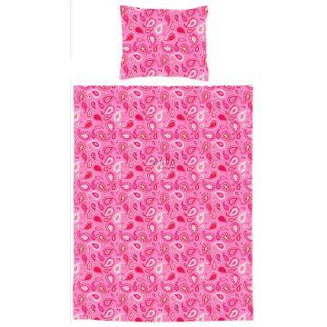 junior duvet cover set paisleys candy pink