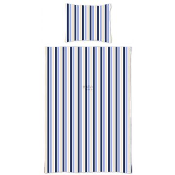 junior duvet cover set stripes blue and beige