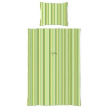 single duvetcover set stripes lime green