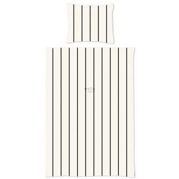 single duvetcover set stripes black