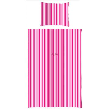single duvetcover set stripes candy pink