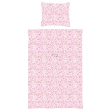 single duvetcover set paisleys pastels