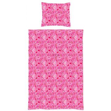 single duvetcover set paisleys candy pink