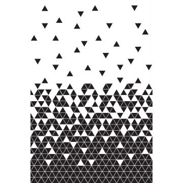 wall mural triangles black and white