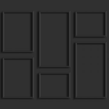 wall mural wall panelling anthracite gray