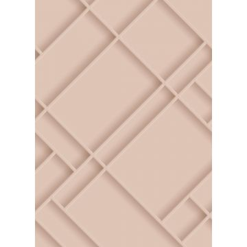 wall mural wall panelling soft pink