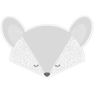 wall sticker animal heads light gray