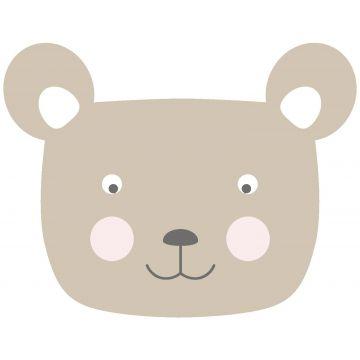 wall sticker animal heads beige