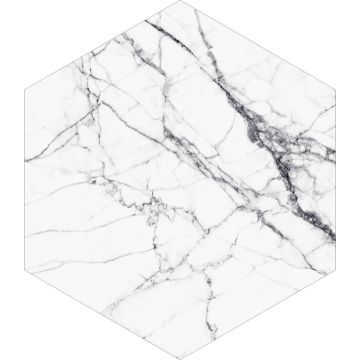wall sticker marble black and white