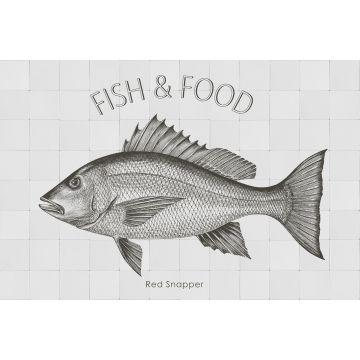 wall sticker Fish black