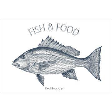 wall sticker Fish blue