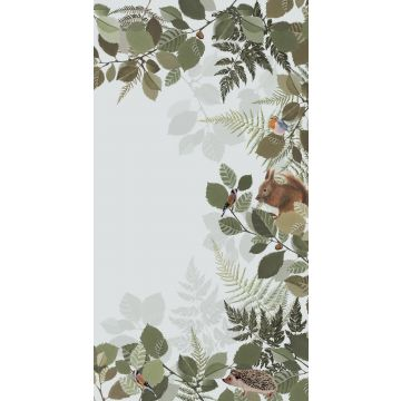 wall mural forest animals green and brown
