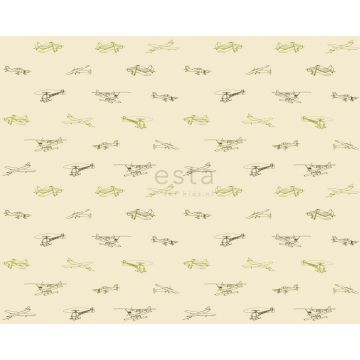 fabric airplanes army green