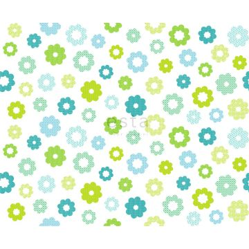 fabric flowers lime green