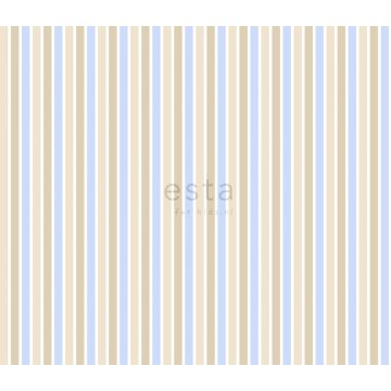 fabric stripes soft blue and beige