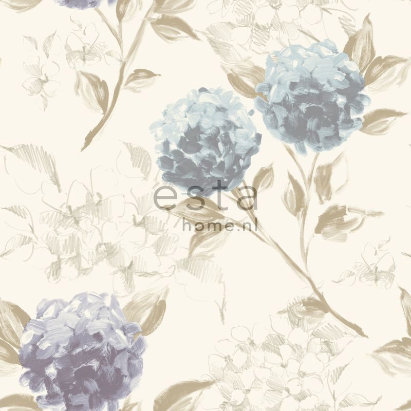 wallpaper hydrangeas