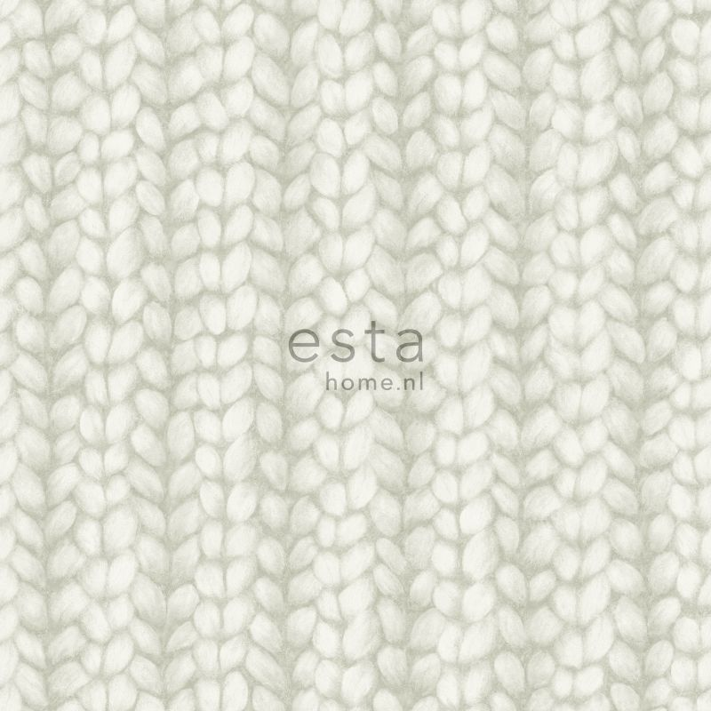 wallpaper knit light gray