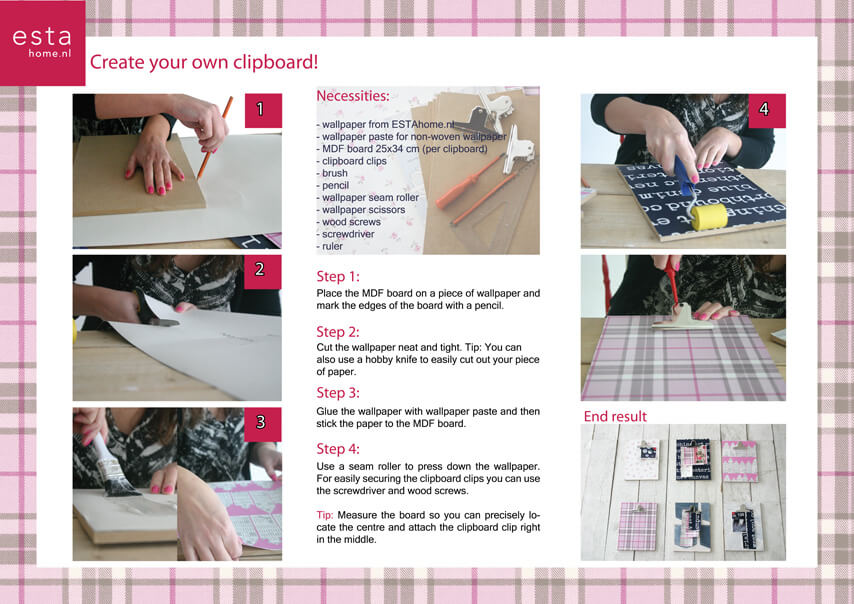 Make your own clipboard with wallpaper