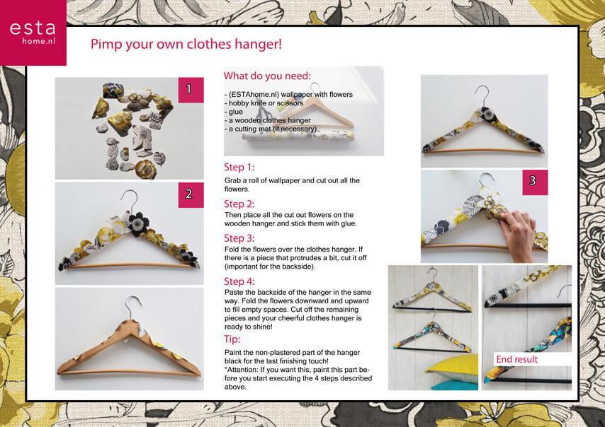 Decorate your own clothes hanger